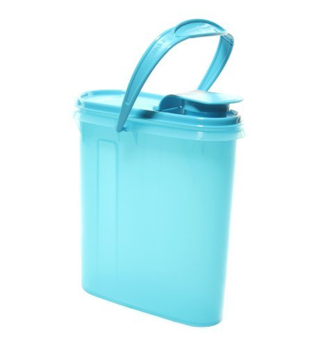 Tupperware Beverage Buddy 8 Cup Cereal Storer in Aqua Blue Color  available at amazon for Rs.9506