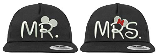 Youth Designz Baseball Kappe Snapback Cap Modell MR. & MRS. - Schwarz