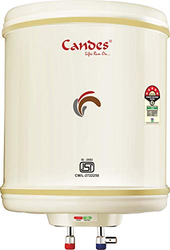 Candes 35L Stainless Steel Storage Electric Water Heater (Ivory, 35L)