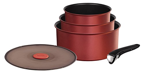 Tefal L6599503 Set de casseroles - Ingenio 5 Performance Rouge Surprise Set 5 Pièces - Tous feux dont induction