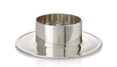 Kerzenhalter, Durchmesser 50mm, Silber poliert für Kerzen, Taufkerzen, Kommunionkerze, Hochzeitskerze