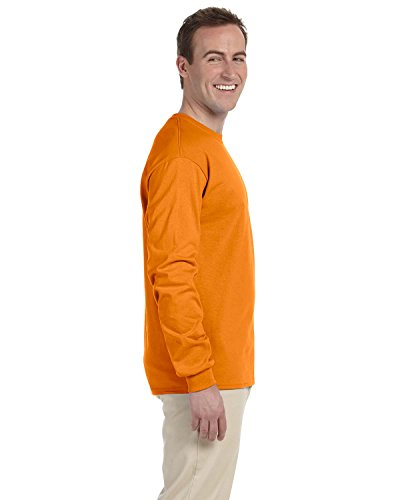Gildan Ultra cotone adulti maglietta a maniche lunghe Safety Orange