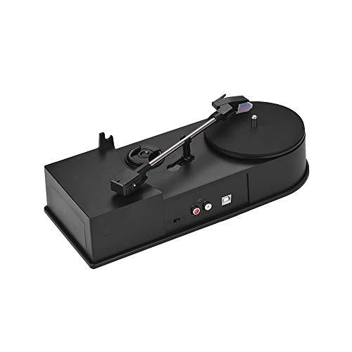 Kalaok Mini-USB-Stereo-Plattenspieler Vinyl Record Player 2-Geschwindigkeit (33/45 RPM) MP3 / WAV-Konverter-Funktion mit RCA-Ausgänge (Player Record Plattenspieler)