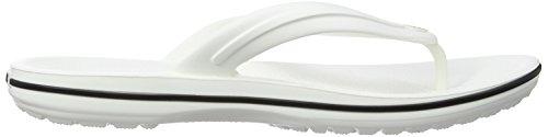 Crocs Band Flp, Tongs - Mixte adulte Blanc (White)