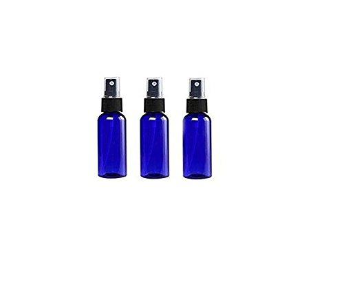3Unzen/1.67oz 30ml/LSF15blau Kunststoff Travel Spray Flaschen mit Schwarz Fein Mist Spritzen Kosmetik Box Fall Halter Container ideal für Make Up Wasser Elite Fluid - 2 Unzen-cobalt-flasche