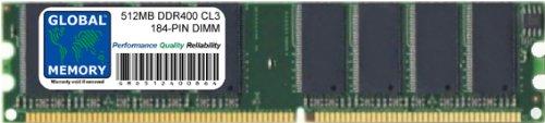 512MB DDR 400MHz PC3200 184-PIN DIMM ARBEITSSPEICHER RAM FÜR PC DESKTOPS/MAINBOARDS