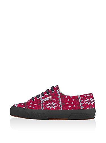 Superga Damen Fw Sneaker Rot/Schwarz