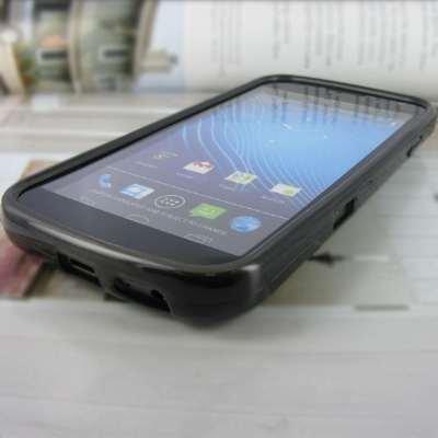 EMPIRE Samsung Galaxy Nexus I515 Poly Skin Case Étui Coque Cover Couverture (Smoke) + Films de protection d'écran + Voiture Chargeur