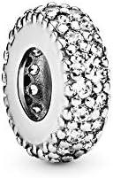 Pandora Women Silver Bead Charm - 791359CZ