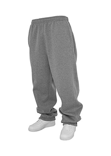 Urban Classics Jogginghose Sweatpants Trainingshose Tanzhose blanko zum Bedrucken Blank schwarz grau dunkelgrau charcoal S bis 5XL Farben Männer Herren Sporthose Fitnesshose Dance Hose (M, grau)