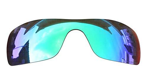 BVANQ Sonnenbrille Objektive Ersatz Polarisiert für Oakley Batwolf Sonnenbrille-9Optionen erhältlich, Green & Purple Mirror Coatings