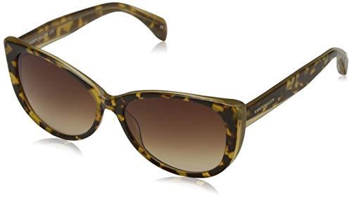 KAREN MILLEN Damen Luxe Sonnenbrille, Braun (Torf), 57.0