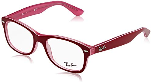 Ray-Ban Unisex-Erwachsene 0RY1528 Brillengestelle, (Trasp Pink On Top Bordeaux), 48
