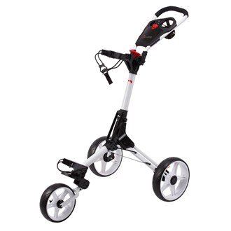 CUBE Carts Golf Trolley 3 Rad Push Leicht - Kompakt - Komfortabel Farbe: White/White (Räder Für Golf Carts)