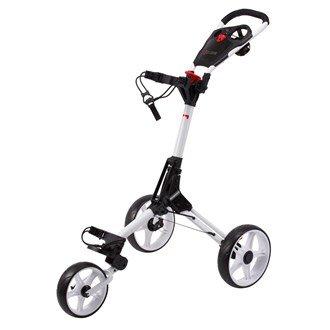 CUBE Carts Golf Trolley 3 Rad Push Leicht - Kompakt - Komfortabel Farbe: White/White -
