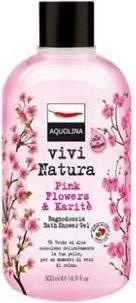 Vivi natura pink flowers & karitè di aquolina, bagnoschiuma donna - flacone 500 ml.