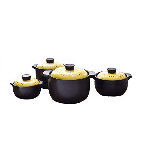 Casserole En Céramique Antiadhésive Haute Résistance À La Température De La Pierre Isolant De Pot Style Chinois Multi-Fonction Pot,Set