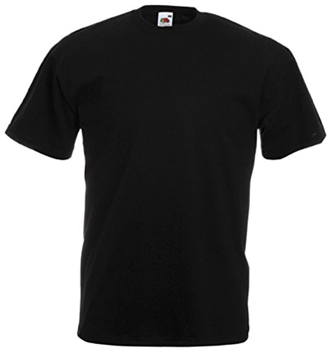 Fruit of the Loom - Classic T-Shirt 'Value Weight' M,Black
