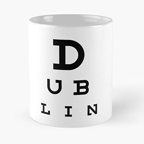 Dublin - Eye Test Chart Classic Mug The Funny Coffee Mugs For Halloween, Holiday, Christmas Party Decoration 11 Ounce White-yourelse.