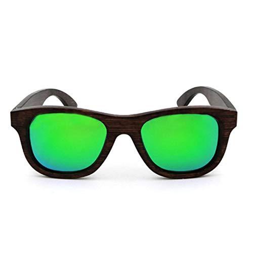 Monllack Holz Unisex Vintage Handmade Bamboo Frame polarisierte Sonnenbrille Holz Sonnenbrille für Outdoor-und Freizeitaktivitäten