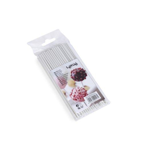 Lékué Ersatzstiele für Cake Pops 50 Stück, Holz, Bunt Einheiten