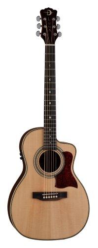 Luna Guitars AMP 100 - Guitarra electroacústica, color marrón