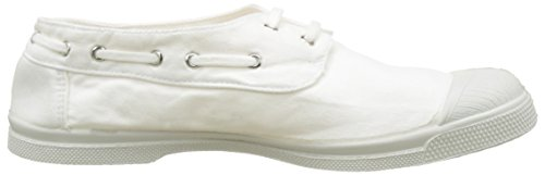 Bensimon Tennis Bateau Pat, Baskets Basses Femme Blanc (Blanc)