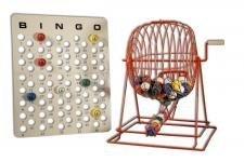 Extra Großer Profi rot Bingo Käfig Set 48,3cm Höhe, Mr. Chips, Inc. (Bingo-käfig Set)
