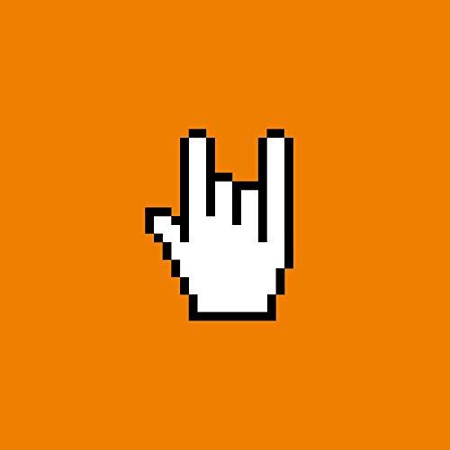 Apple iPhone 5s Housse Étui Protection Coque Rock 8 bit Symbole Main Étui en cuir marron