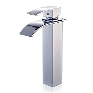 Auralum® Mixer Tap For Sink Waterfall Chrome Finish Altezza da 28cm