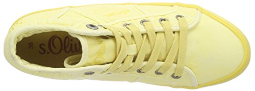 s.Oliver - 25206, Sneaker alte Donna Giallo (Gelb (LIGHT YELLOW 610))