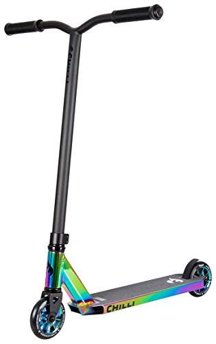Chilli Pro Scooter Rocky Neochrome | Erstklassiger bunter Stunt-Scooter für Einsteiger | Robuster Roller, drehbarer Lenker ideal für Tricks geeignet | Leicht & schnell für maximales Fahrvergnügen