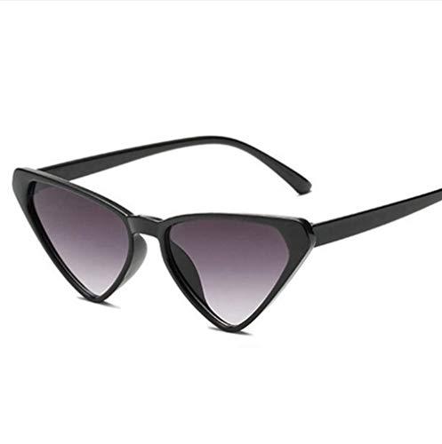 WYJW Für Mädchen \u0026 Damen Verspiegelte Sonnenbrille 1950er Jahre Cool Cat Style Triangle Black Frames Outdoor-Brille MS Uv400-Schutz