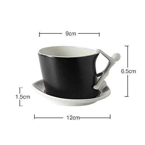 Tazza di caffè semplice della personalità creativa della porcellana dell'osso ( Colore : Bianca ) Bianca
