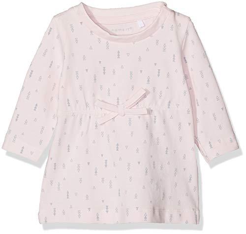 Name IT NOS Baby-Mädchen Nbfdelucious Ls Tunic Noos Kleid, Rosa Ballerina, (Herstellergröße: 50) - Mädchen-rosa-jersey-kleid