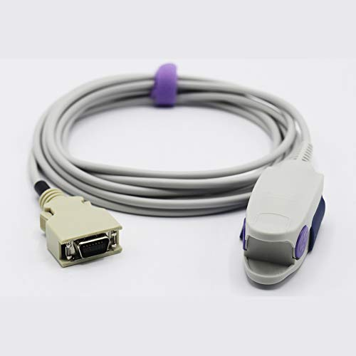 Sino-k Pince de doigt réutilisable compatible Nellcor Spo2 14 broches  Connecteur CE/FDA