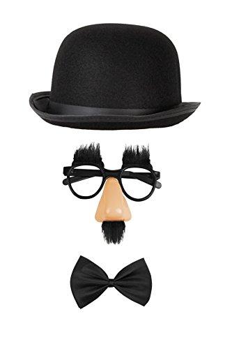Witziges Komiker Set Kostüm Zubehör Outfit