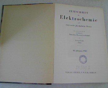 Isentropische Zustansänderungen in dissoziierenden Gasen und die Methode der Schalldispersion zur Untersuchung sehr schneller homogener Gasreaktionen, in ZEITSCHRIFT FÜR ELEKTROCHEMIE 48. Jahrgang (1942)