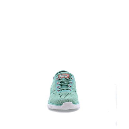 Cheiw 47048, Sandales mixte enfant Multicolore - Lycra verde claro / Vinilo verde claro
