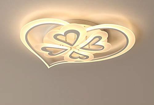 Lámpara de techo LED, 50 W, 5 focos, moderna, forma de corazón,...