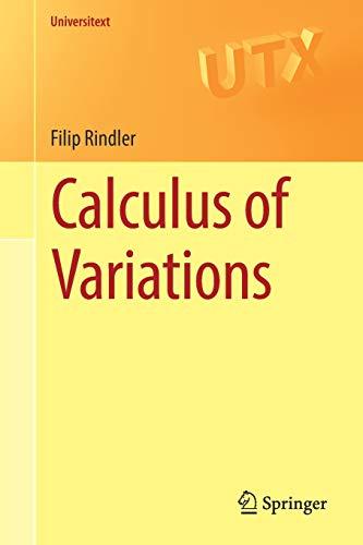 Calculus of Variations (Universitext) por Filip Rindler