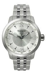 Tissot Prc 200argento quarzo sport orologio da uomo # t055.410.11.037.00