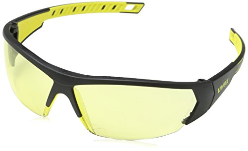 uvex i-works 9194 Unisex Brille EN 166 mit UV-Schutz - Sonnenbrille Schutzbrille Sportbrille Arbeitsbrille Radbrille (gelb/amber)