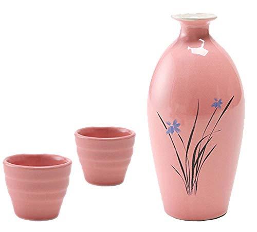 Black Temptation Bouteille de vin en céramique de Style Ancien mis en Verre Set de vin de saké, M3