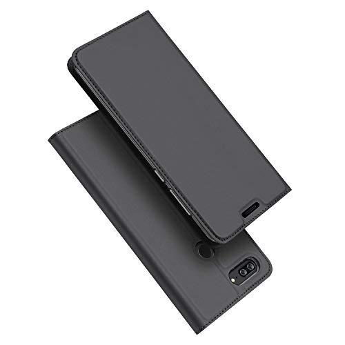 DUX DUCIS Huawei Honor 9 Lite Hülle, Skin Pro Series Ultra Slim Layered Dandy,Ständer,Magnetverschluss,TPU Bumper,Full Body Schutz für Huawei Honor 9 Lite (Grau)