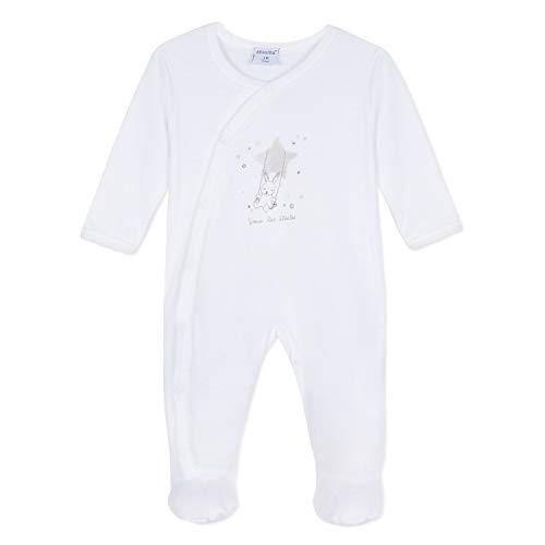 Absorba 9N54013 Playwear, Pyjama Mixte bébé, Blanc (White 01), 2 Ans (Taille Fabricant:2A)