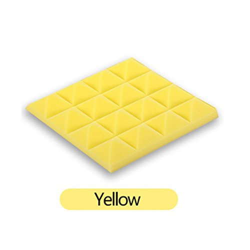 Malloom® Akustikschaum Platten Ton Endabsorptions Schwamm Studio KTV schalldicht (gelb, 10 Stück) (Gelb Akustikschaum)