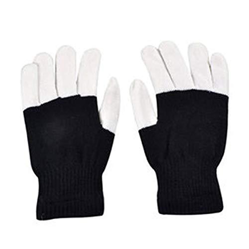 LED Bunte Blinkt Finger Beleuchtung Handschuhe für Clubbing Tanzen Rave Geburtstag EDM Disko Licht Show (Bunte Art ()