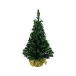 Árbol de Navidad artificial en bolsa de yute