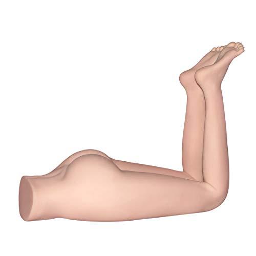FIZZENN 3D Realist Silikon Half Sex Doll Legs, Ass & Feet for Vaginal Anal Sex, Lifelike Adult Toy Male Masturbator